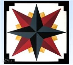 Charcoal Mariners pass Barn Quilt 4 foot square693 1521 th