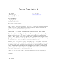 Cover Letter High School Student Sample Mediafoxstudio Com