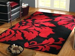 black and red rugs a luxurious wool hand tufted black red soft rug with fl pattern black and red rugs