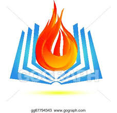 book on fire logo