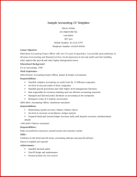 Accounting Job Resume Format Mailing For Accountant It Cover