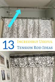 shower curtain rod ideas. Beautiful Curtain 13 Useful Ideas For Tension Rods Including Lots Of Organizing To Shower Curtain Rod Ideas