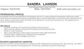 Resume Sample For Housekeeping Housekeeping Resume Examples Personal
