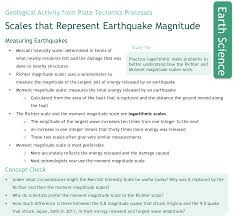Discussion and several examples regarding using logarithmic scales to measure intensities. Earthquake Magnitude Scales Ck 12 Foundation