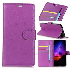 litchi skin leather wallet cover for samsung galaxy j2 core purple 1