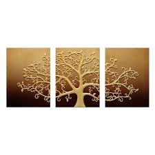 3d wall art life tree champagne set of 3 by inuni on thehome  on 3d wall art life tree with 3d wall art life tree champagne set of 3 by inuni on thehome com