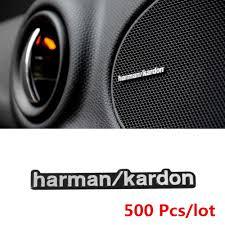 harman kardon car stereo. aliexpress.com : buy 500pcs/lot harman/kardon car audio logo stickers 3d aluminum hi fi speaker badge emblem with 2 pins hot sale free shipping from harman kardon stereo
