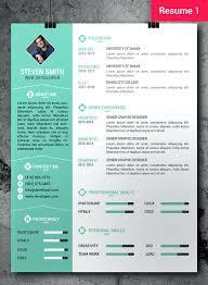 Free Graphic Design Templates Photoshop Free Professional Resume