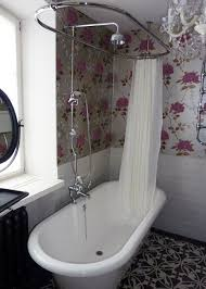 This is very cute - nice, traditional, practical | Roll top bath, shower,  bathroom | bathroom | Pinterest | Roll top bath, Shower bathroom and Bath  shower