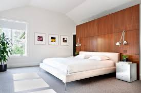 Small Picture White walls wood trim bedroom contemporary with wood platform wall