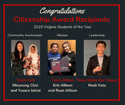 2019 Citizenship Award Recipients Students Of The Year