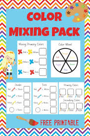 Primary Secondary Colors Preschool Coloring Pages Color