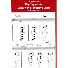 Key Chart Saxophone Key Signature Fingering Chart