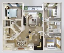 3 Bedroom Open Floor House Plans Creative Design Awesome Design Inspiration