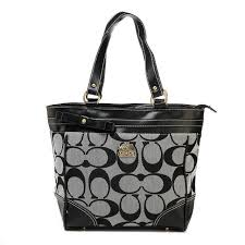 Coach Legacy In Signature Medium Grey Totes APJ