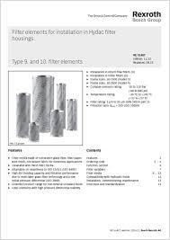 Bosch Rexroth Cross Over Filter Elements