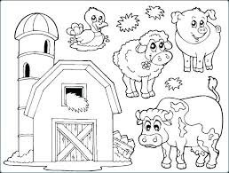 farm animals coloring sheet pages animal printable for toddlers