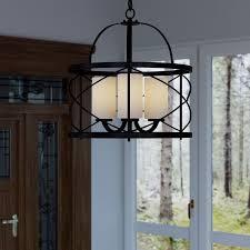 dar home co farrier 3 light foyer pendant reviews wayfair for incredible home foyer pendant chandelier designs