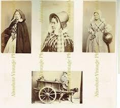 Vintage Photo Album Page Cdv Size Albumen Photos Flanders Dairy Women Dog Cart