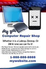How To Do Flyers Computer Repair Shop Flyer Template Postermywall