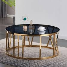 dalila black glass coffee table with