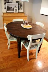 Refinished Kitchen Tables Refinished Dining Room Table Grstechus