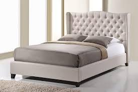 Amazoncom Baxton Studio Norwich Linen Modern Platform Bed King