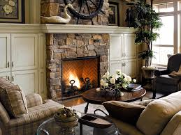 stone fireplace design ideas for country living room complete with traditional living room furnitures