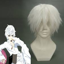 Hot Short Straight <b>Gintama</b> Sakata <b>Gintoki</b> White <b>Anime Cosplay Wig</b> ...