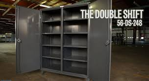 Heavy Duty Storage Cabinets Strong Hold Products Industrial Storage Cabinet Double Shift 56