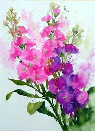 fast and loose flowers using watercolour art painting flowerseasy