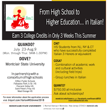 A Summer Italian Intensive Course 3 College Credits In 3