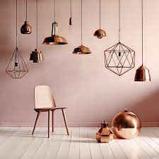 rose gold paint for walls classy