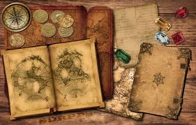 photo wallpaper gold old map book p ruby coins