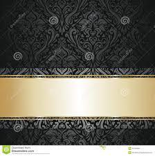Zwart En Gouden Uitstekend Behang Vector Illustratie Illustratie