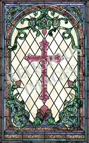 stain glass window s stain glass window decal traditional cross stained glass window faux stained