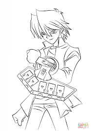 Small Picture Joey Wheeler from Yu Gi Oh coloring page Free Printable