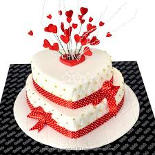 Heart Shaped Two Tier Engagement Cake 3kg Cakes