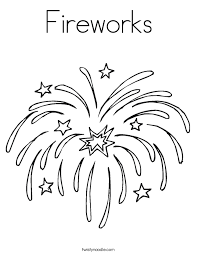 Small Picture Fireworks Coloring Page Twisty Noodle