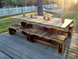 Pallet Patio Table..like table, but with chairs not benches. .or