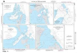 Nga Nautical Chart 26257 Plans In The Bahamas A Highbourn Cut Exuma Sound