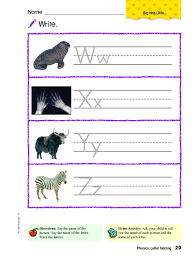 Printable worksheets illustrating phonics click on the thumbnails to get a larger, printable version. Write Ww Xx Yy Zz Worksheet For Kindergarten 1st Grade Lesson Planet