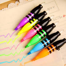 diy office gifts. 6 Pcs Lot Highlighter Colors Pens DIY Drawing Marker Pen Stationery Office Material School Supplies Christmas Gift Escolar Budget Diy Gifts