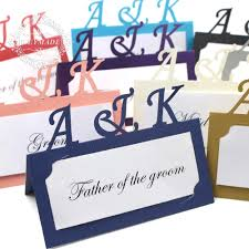 Free Name Cards Us 21 99 60 Personalized Anniversary Free Print Laser Cut Place Name Cards Customized Name Place Cards For Wedding Engagemen In Cards