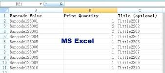 Ms Excel Free Download Barcode Generator Excel 1 This Program Can Import Excel Data So You