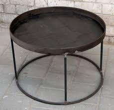 murphy round metal tray table home work metal tray coffee table