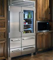 Built-in refrigerators are designed to be flush with kitchen cabinetry so  they do not extend out into the room. Built-ins can be finished in  stainless steel ...