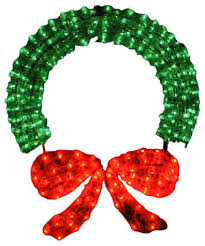Outdoor Lighted Wreath Classy Lighted Crystal 32D Outdoor Christmas Wreath Decoration 32