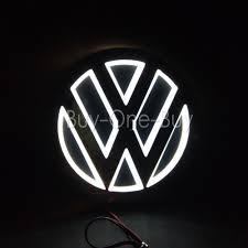 5D Reflective LED LOGO Emblem Badge Decal Sticker Lights For vw ...