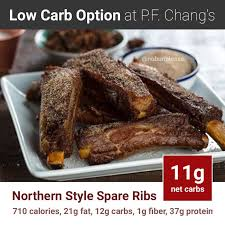 p f chang s keto meal northern style spare ribs